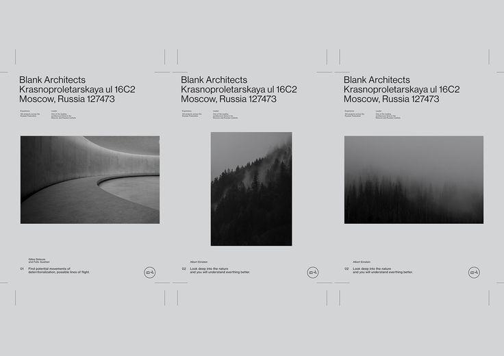 blank architects on behance simple minimal layout simple design