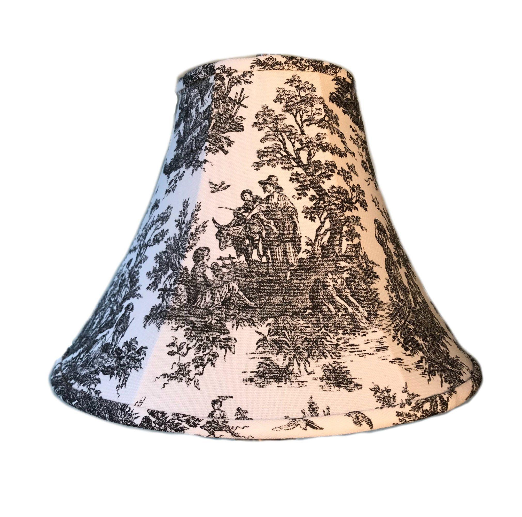 Black Toile Lamp Shade Toile Lamp Shade French Country Lamp Shade Black And White Lamp Shade Free Shipping Continental Usa Lamp Shade White Lamp Shade Lamp