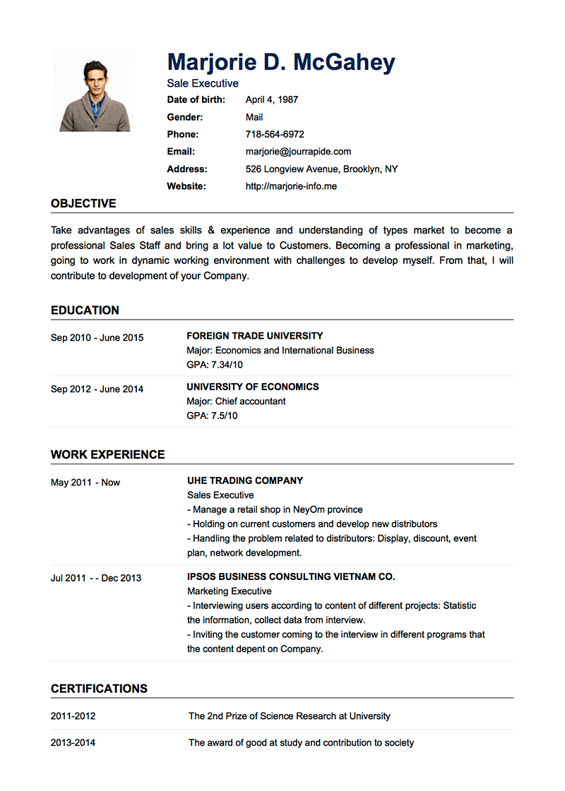 Template Of A Resume Template Cv Default Admin Chronological Resume Template