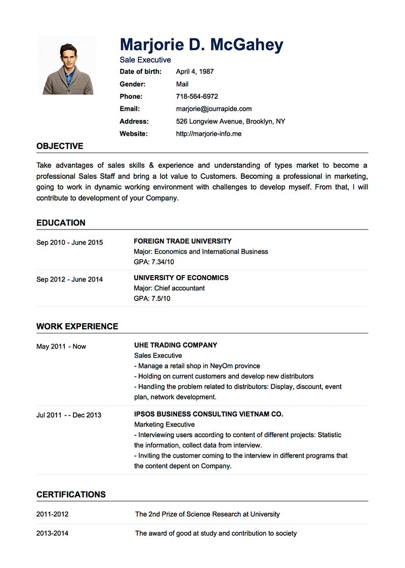 Template Cv Default Sample Resume Templates Basic Resume Professional Resume Examples