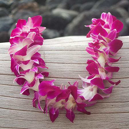 On Sale For A Limited Time Shipping Included This Popular Hawaiian Lei Can Be Worn By Men Women And Children A Timeless C Orchid Lei Purple Orchids Orchids