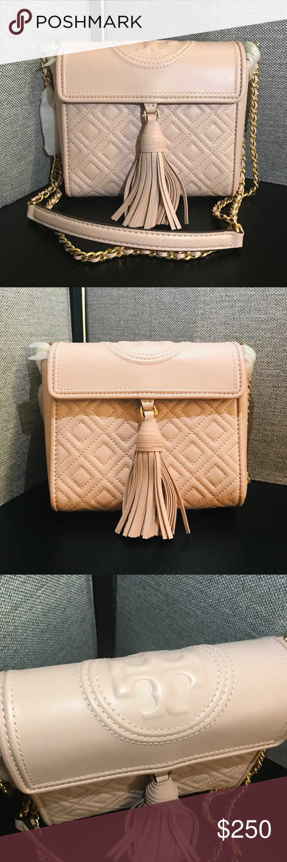 de392753f TORY BURCH FLEMING BOX CROSSBODY NWOT - FLEMING BOX CROSSBODY COLOR SHELL  PINK/652 VERY