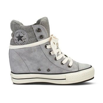 converse all star platform grigio