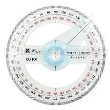 360 Degree Plastic Pointer Protractor Ruler Angle Finder N Swing A4K2 Arm E8B7