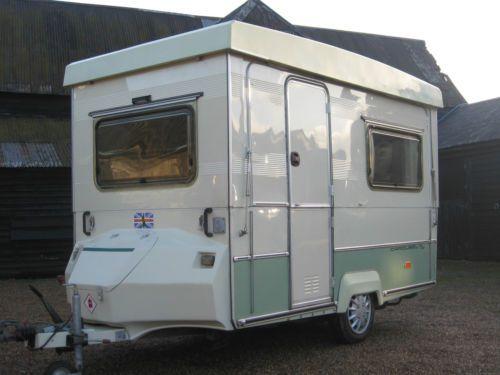 Folding Caravan Gobur Carousel 10 2 Small Lightweight 2 Berth Slimline Awning Camper Caravan Travel Trailer Caravans