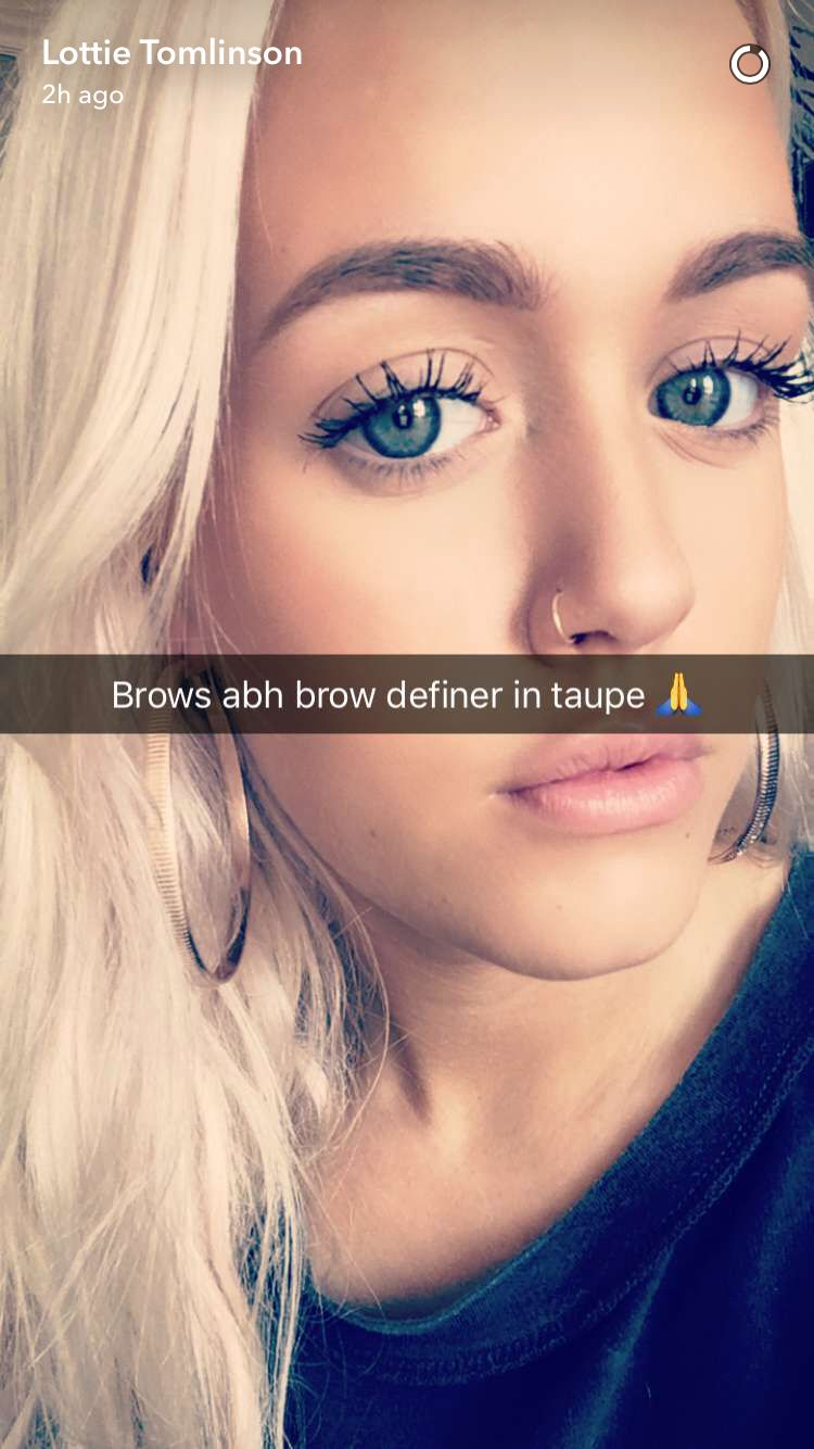 On Lottie's Snapchat