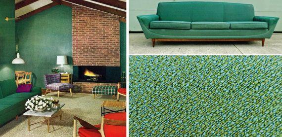 Vintage 1950's Mid Century Modern Sofa by alsredesignvintage