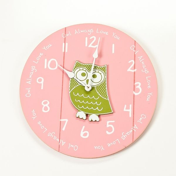Quote Wall Clock with Owl  목공예, 조각 및 사진