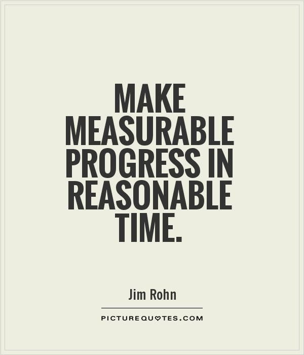 Quotes About Progress Alluring Make Measurable Progress In Reasonable Timepicture Quotes Fav . Decorating Inspiration