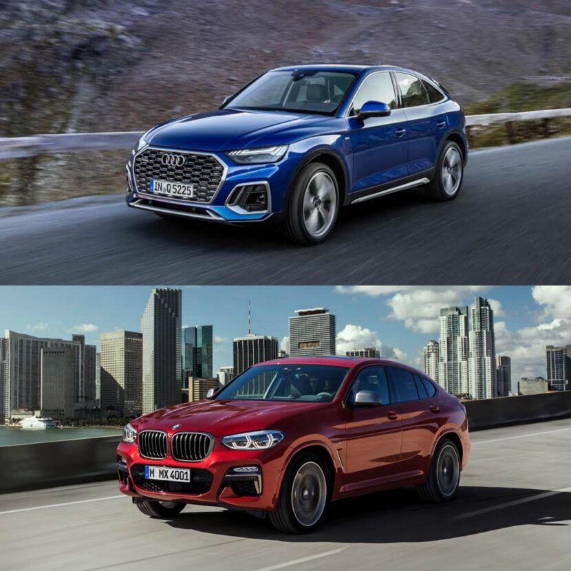 Photo Comparison Bmw X4 Vs Audi Q5 Sportback Bmw X4 Bmw Audi Q5