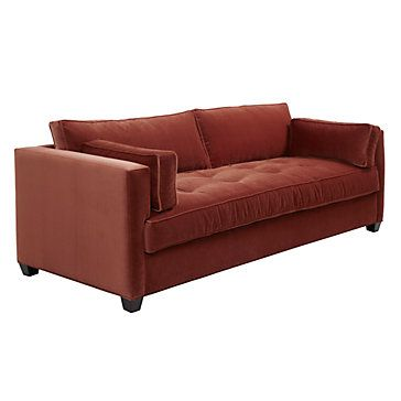 Introducing our Jack sofa upholstered in a rich vibrant rust, $1,299.00 #ZGALLERIE