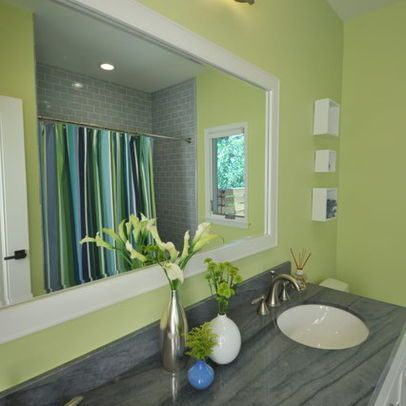 Pretty Green Bathroom Love Green White And Grey Together Green Bathroom Blue Green Bathrooms Bathroom Decor