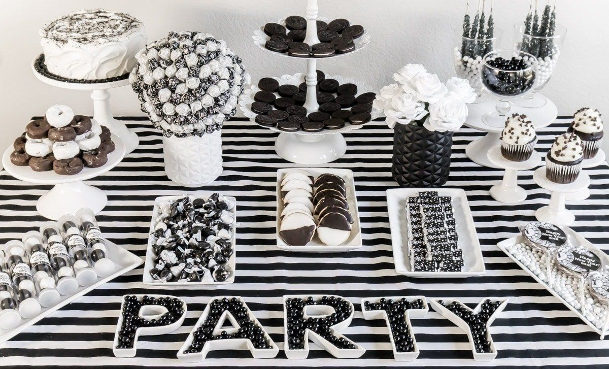 10 Attractive Black And White Party Food Ideas White Party Foods