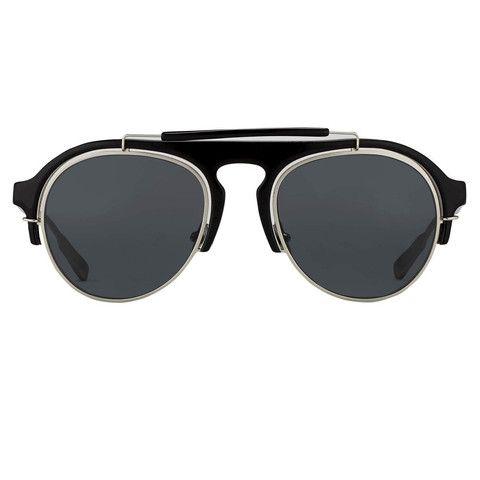 Five and Diamond Kris Van Assche x Linda Farrow Oval Sunglasses