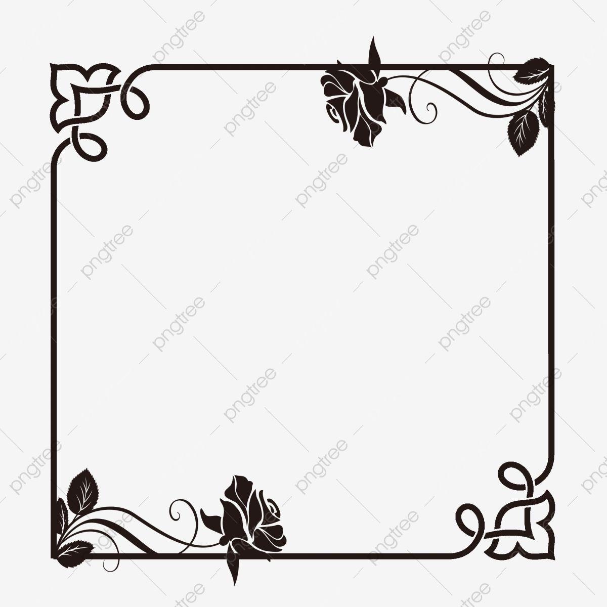 Black Rose Border Rose Clipart Black Rose Frame Png Transparent Clipart Image And Psd File For Free Download Rose Clipart Black Rose Clip Art