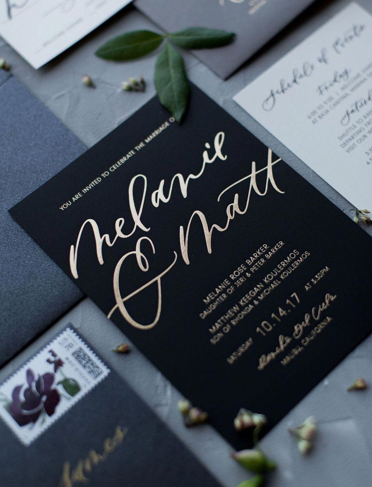 11 Great Make Your Own Wedding Invitations Cheap Ideas That You Can Share With You In 2020 Foil Wedding Invitations Black Wedding Invitations Beach Wedding Invitations