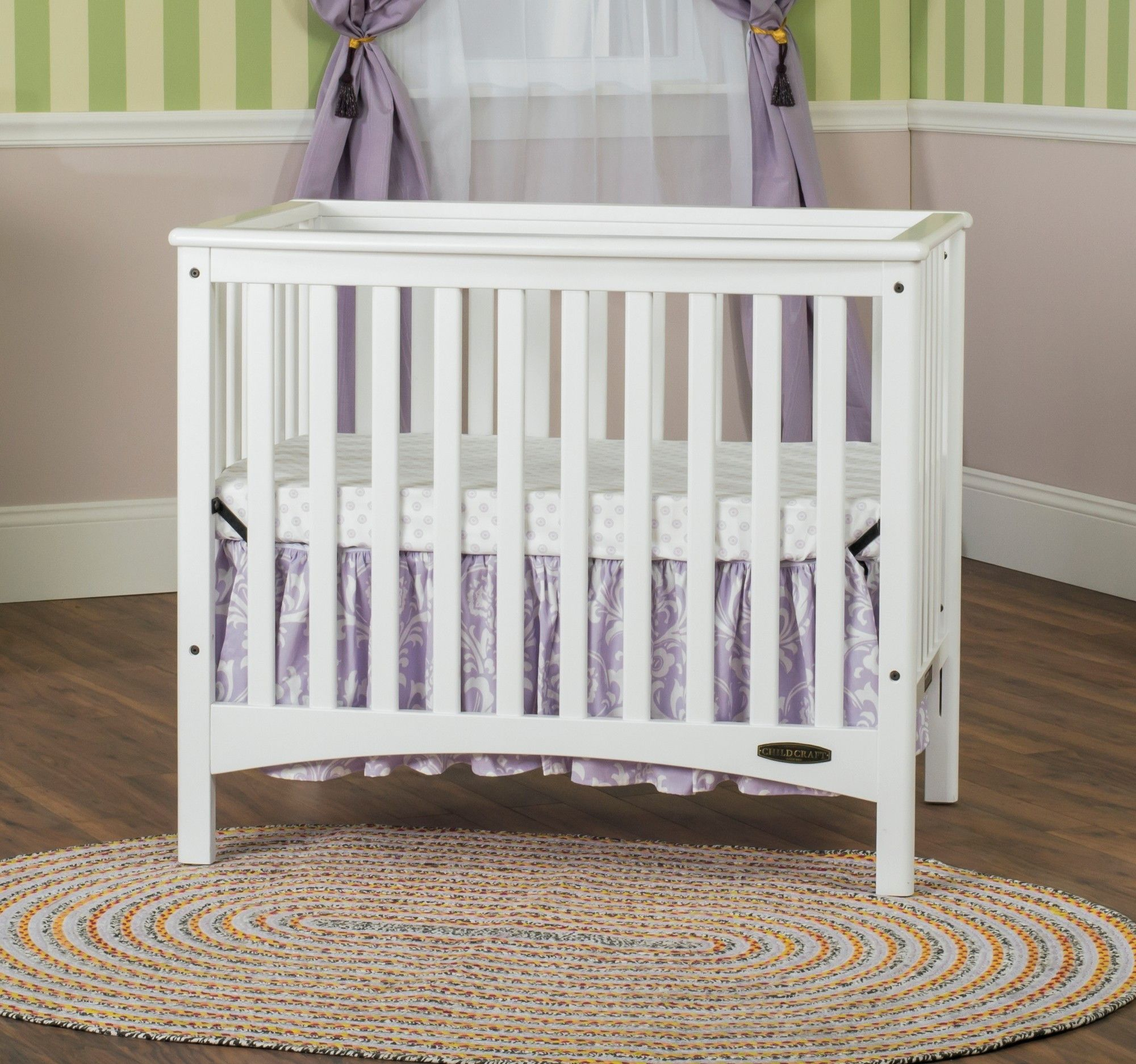 Child Craft London Euro Mini Convertible Crib Cribs Convertible Crib Mini Crib