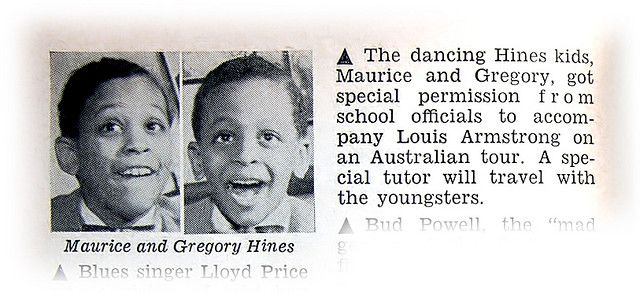 Gregory Hines and Brother Maurice To Accompany Louis Armstrong on Australian Tour - Jet Magazine, April 19, 1956