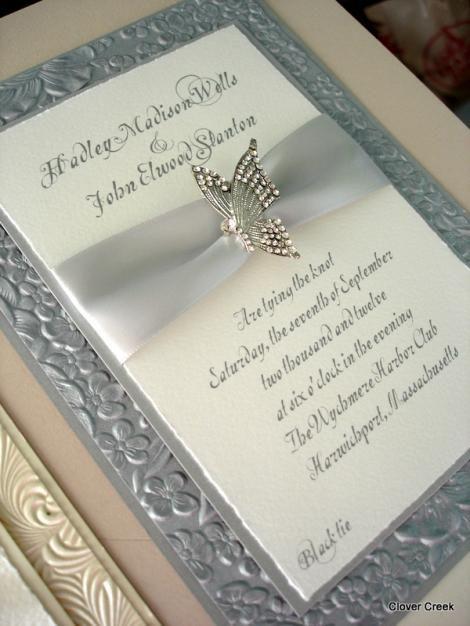 Elegant Wedding Invitations with Crystals Latest Designs