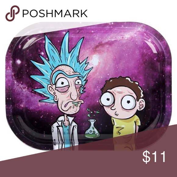 Rick Morty Rolling Tray Explosive Rick And Morty Poster Rick And Morty Tray
