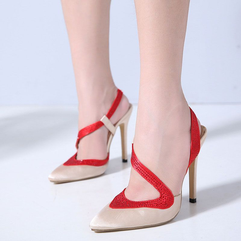 58c70dfaddf Shoespie Sexy Slip-On Slingback Strap Stiletto Heels