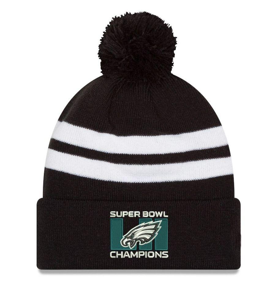 PHILADELPHIA EAGLES HAT NFL SUPER BOWL CHAMPS KNIT Pom Pom Beanie NWT  ERA   Beanie 891606d321a3