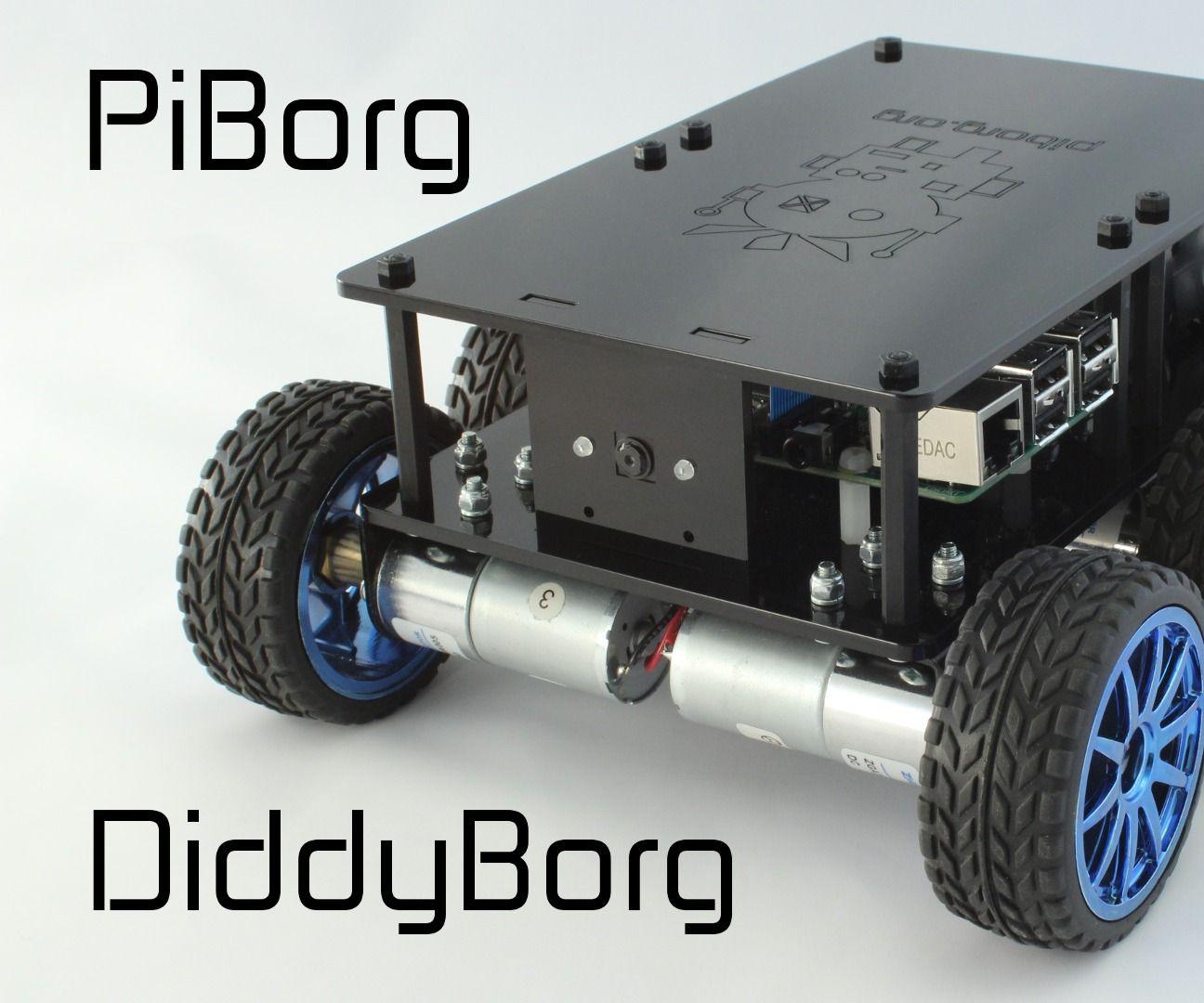 DiddyBorg: the Mini 6 Wheeled Raspberry Pi Robot!   Robotics