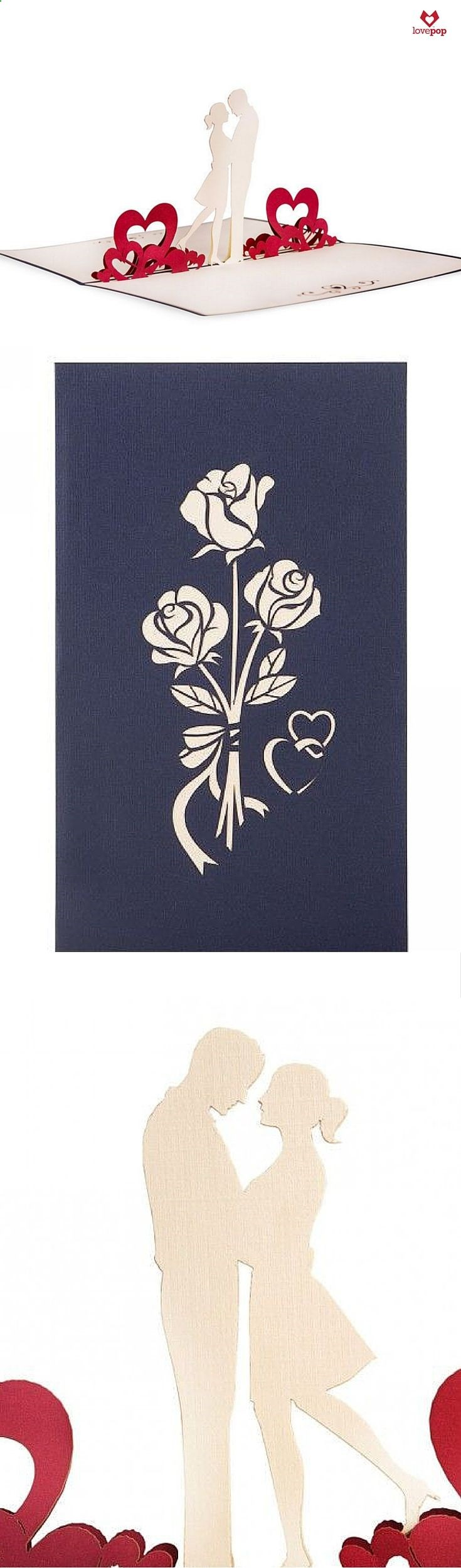 Surprise your love with a paper art pop up card of a couple in love