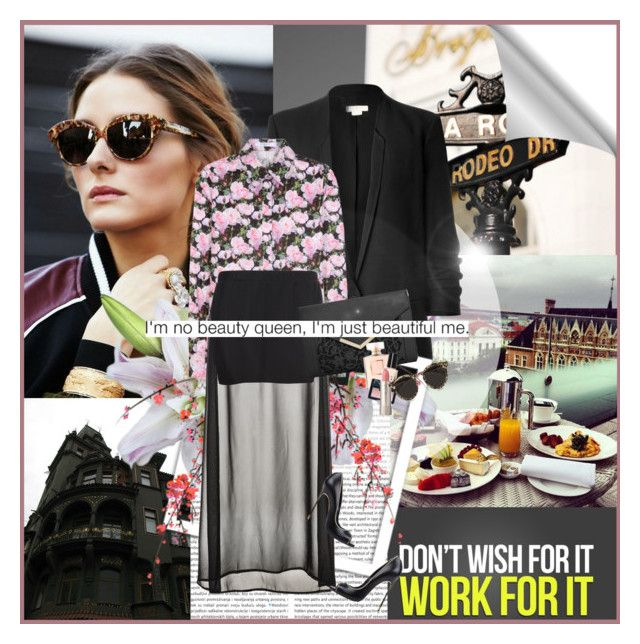 """""""Olivia Palermo"""" by rainie-minnie ❤ liked on Polyvore featuring Helmut Lang, Givenchy, Benetton, ASOS, Casadei, Chanel, Bobbi Brown Cosmetics, NARS Cosmetics, Ilia and Illesteva"""