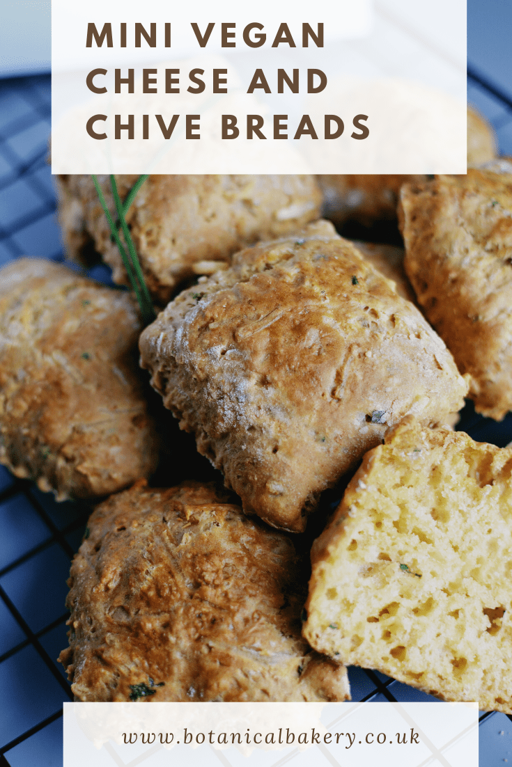 Mini Vegan Cheese And Chive Breads Botanical Bakery Recipes Botanical Bakery Botanical Bakery I 2020