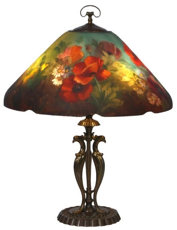 Handel Floral Poppy Table Lamp Handel Lamps Painting