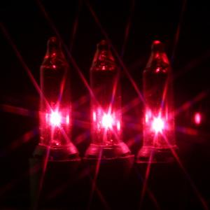 50 pink mini lights on black wire