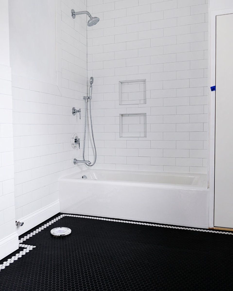 Manhattan 4 X 12 Snow White Matte Subway Tile Bathroom