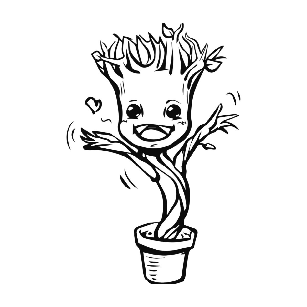 Baby Groot Coloring Page Baby Groot Drawing Baby Groot