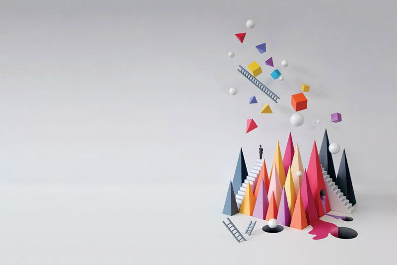 Paper sculpture.