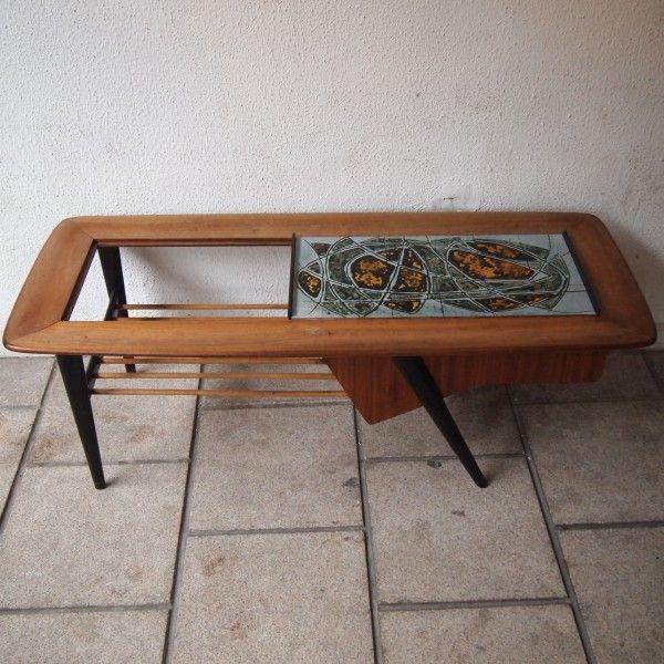 96cc8d3564b0ae Alfred Hendrickx   Belform  Table basse bar, modèle dessiné vers 1957,  plateau en