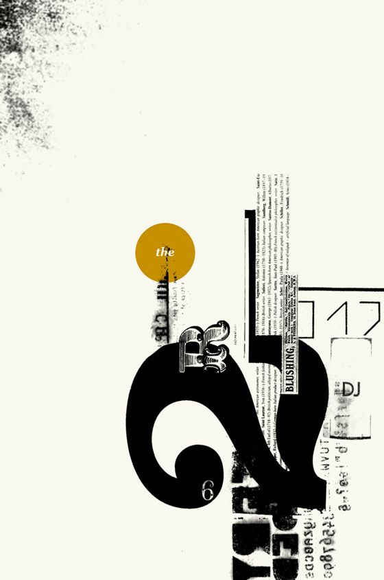 Typographic collage. Reminds me of classic Alan Fletcher work.