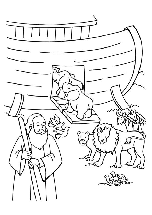 Free Noah S Ark Coloring Pages Posts Related To Noah Ark