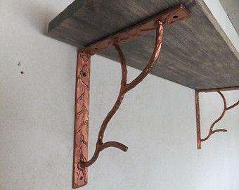 Pair Of Unique Steel Shelf Brackets Shelf Corbels Handmade