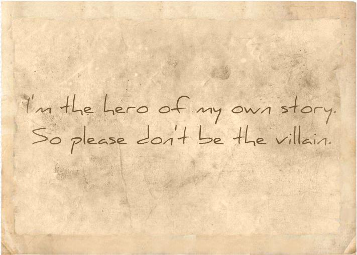 Please don't be the villain