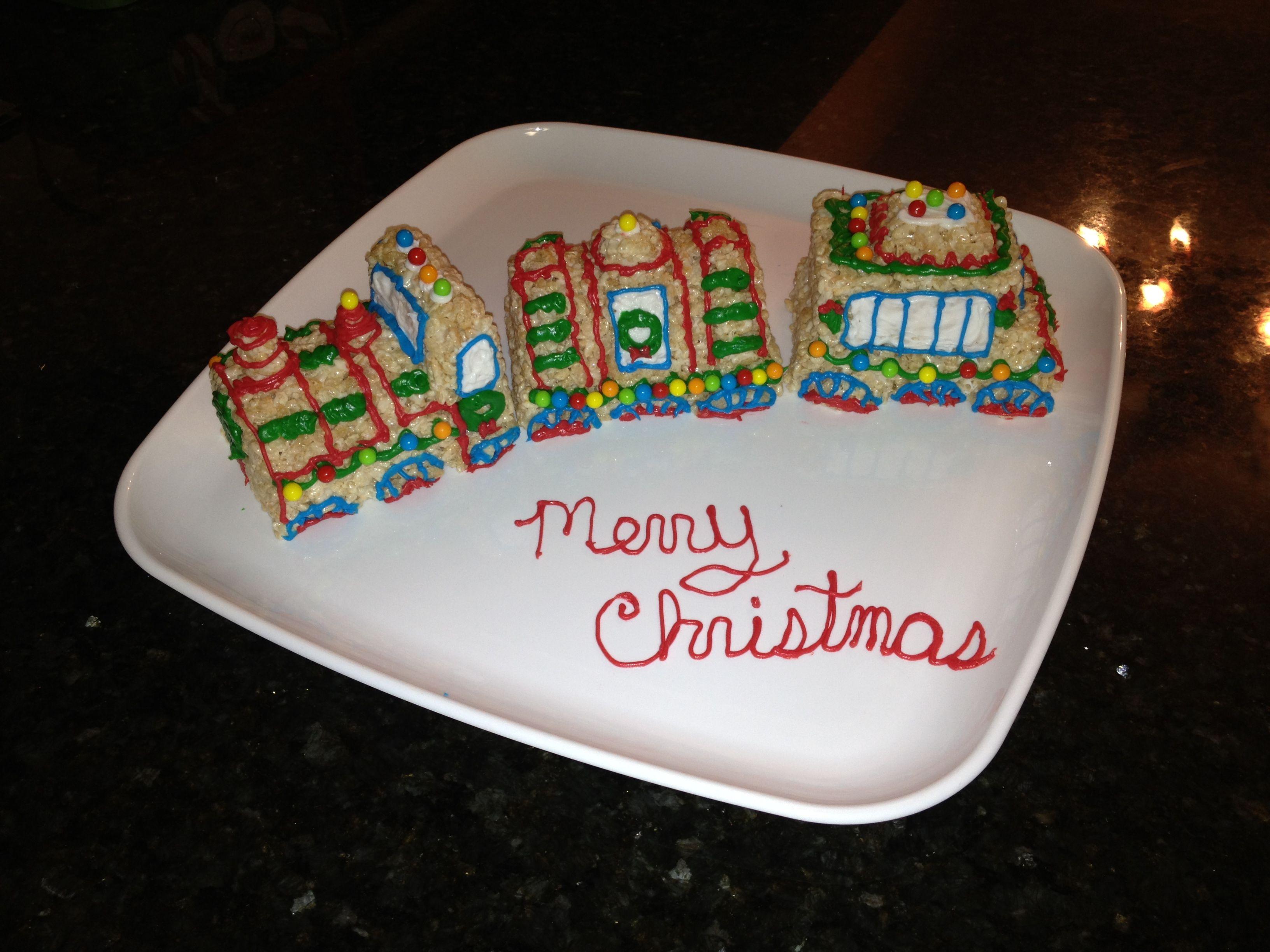 Rice Krispy treats Christmas train :)