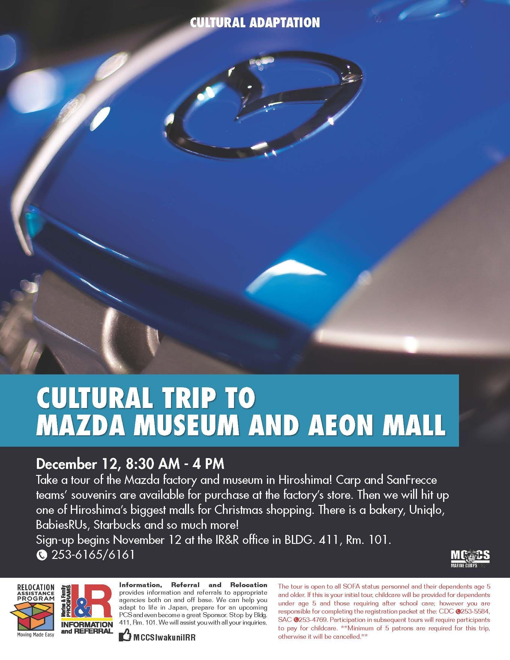 Mazda Museum and Aeon Mall Cultural Trip | MCCS Iwakuni
