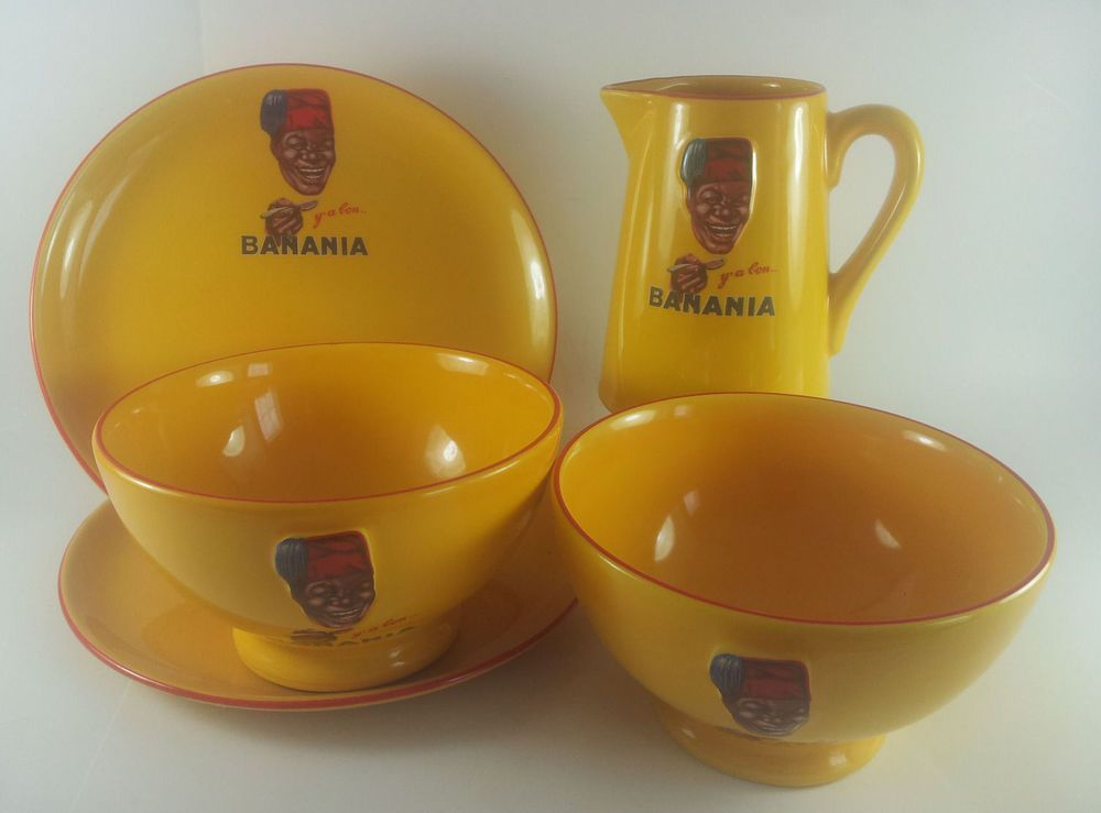 Editions Clouet Breakfast Set Banania Set of 5 France Advertising