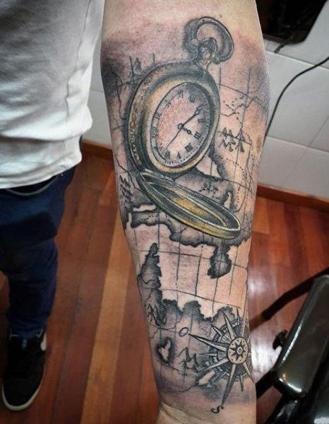 Top 80 Mind Blowing Clock Tattoos 2020 Inspiration Guide Clock Tattoo Clock Tattoo Design Tattoo Designs Men