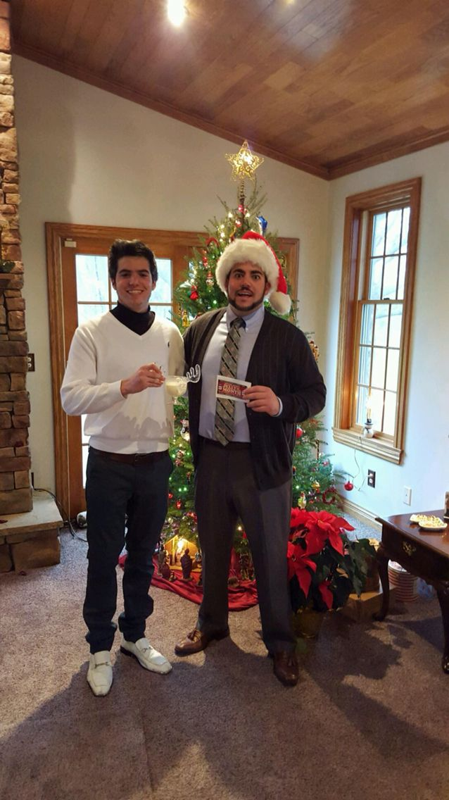 Dressing up as Clark W Griswold and Cousin Eddie from the