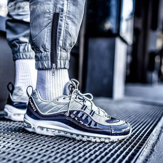 NIKE AIR MAX 98 SUPREME NAVY OBSIDIAN REFLECTIVE 400 | Chaussures ...