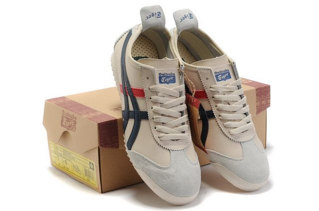 quality design e5a7a fd99d Discount Onitsuka Tiger Mexico 66 Deluxe Beige Blue Red on ...