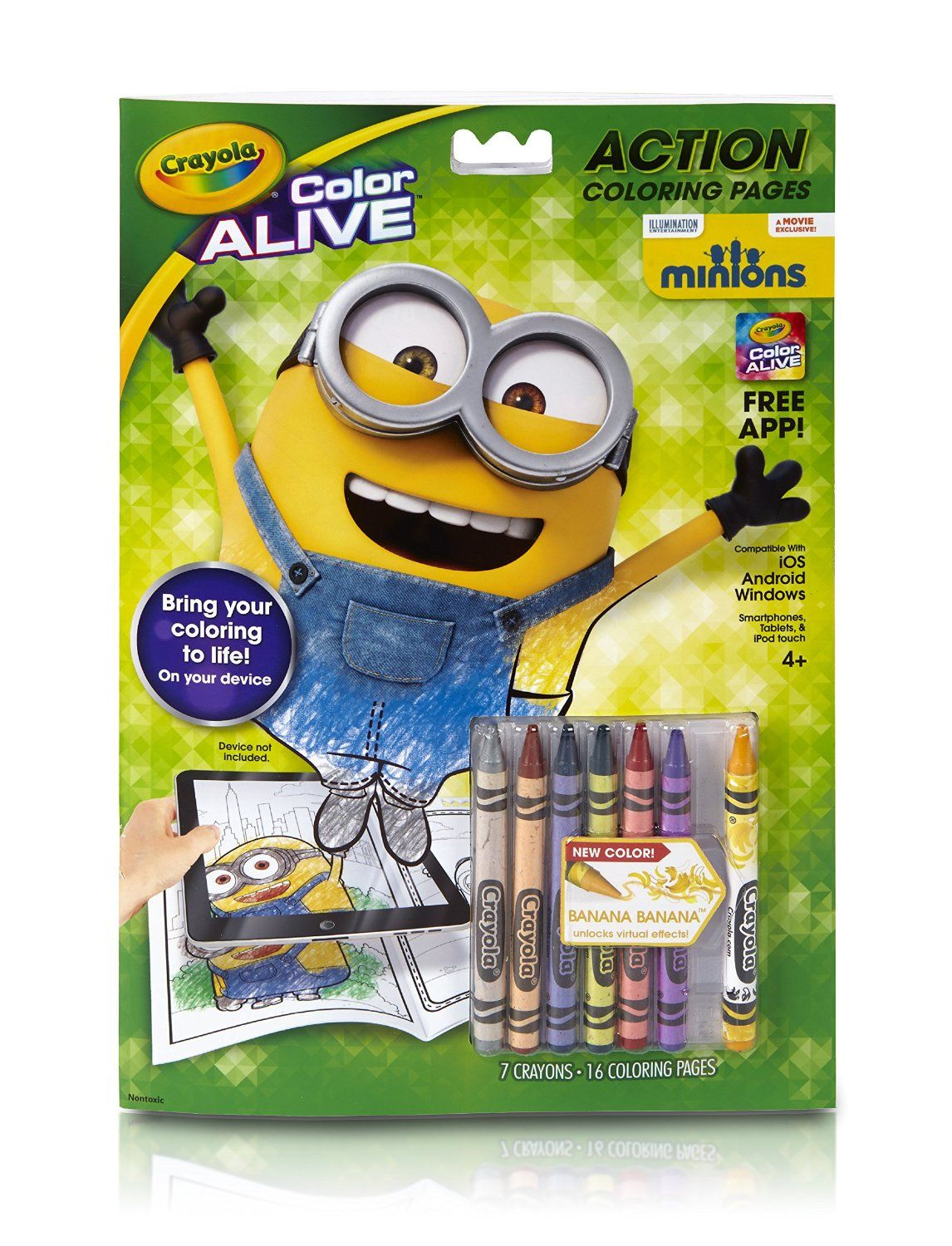 Amazon.com: Crayola Color Alive Animated Minions Pages ...