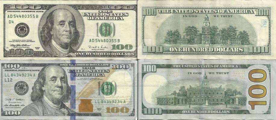 Old Vs New 100 Bills By Just Kondrad Dollar Bill The