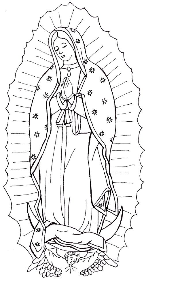 our lady of guadalupe this site has over 50 saint coloring pages
